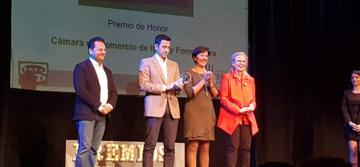 La Cámara de Comercio de Ibiza y Formentera Premio de Honor  Premios Onda Cero 2019